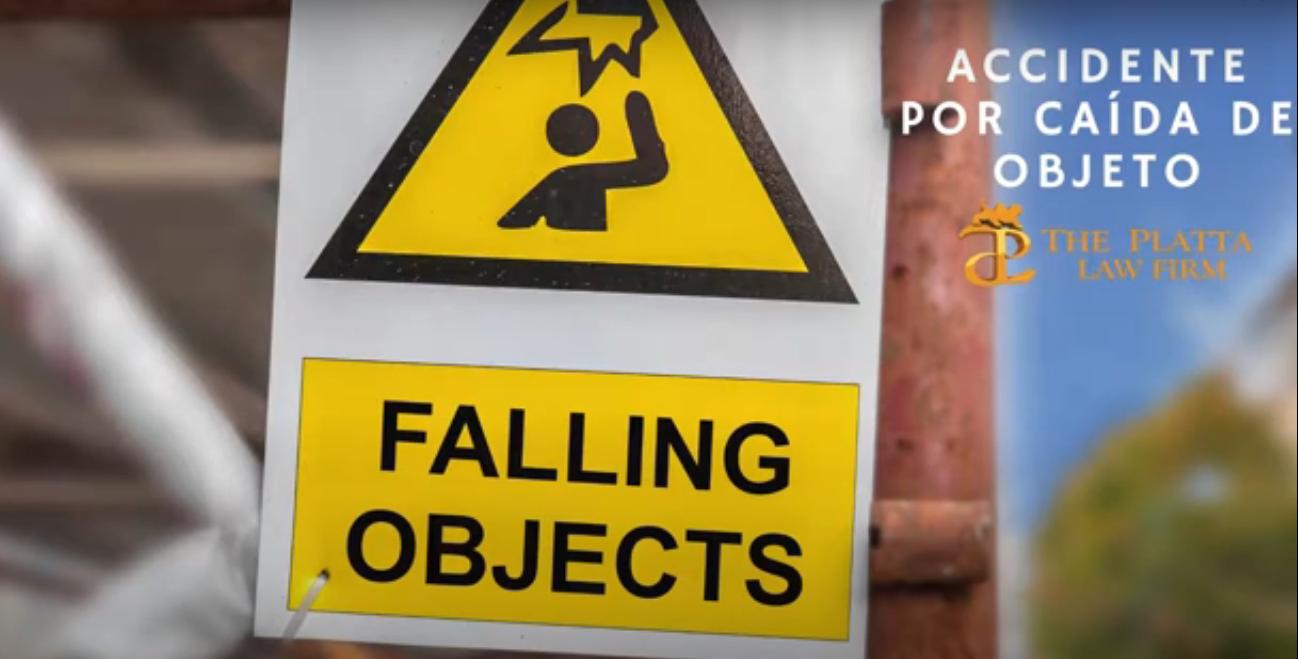 Video accidente de objeto que cae