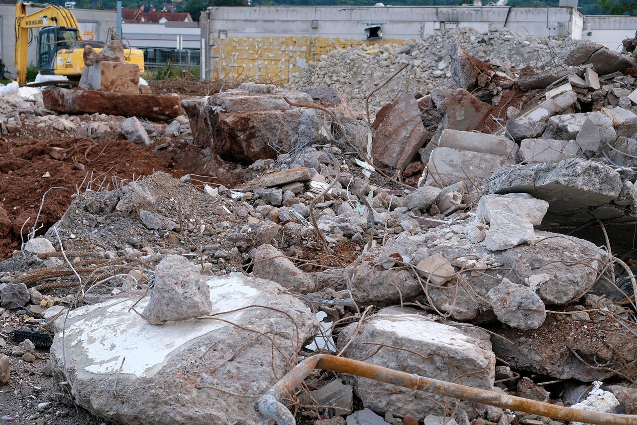 Caida de escombros